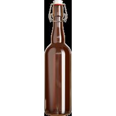 Стекло Бутылка 0,5л темная с бугельным замком