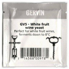 Дрожжи винные Gervin GV5 White Fruit Wine Yeast