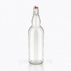 Стекло Бутылка 1л прозрачная с бугельным замком